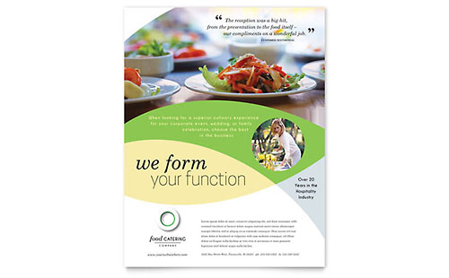 Catering Leaflet Templates Business Events