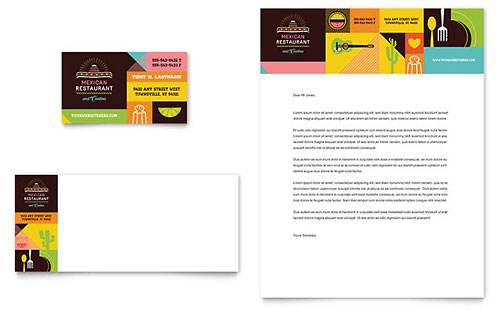 Mexican Restaurant - Business Card Template
