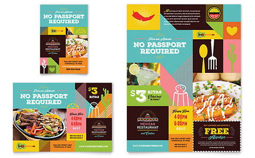 Mexican Restaurant - Print Ad Template