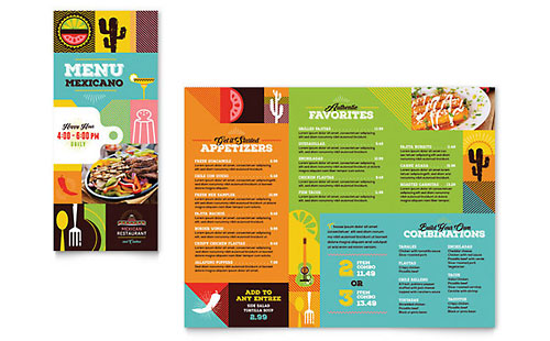 Travel Tourism Menus – Tourism Brochure Template