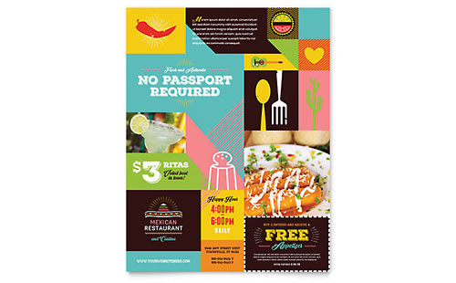 Mexican Food & Cantina Flyer Template