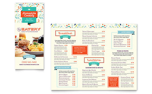 Family Restaurant Take-out Brochure Template