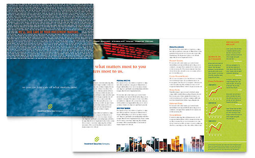 Investment Securities Company Brochure Template