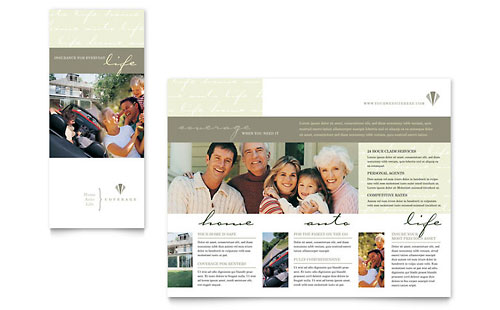 Life & Auto Insurance Company Brochure Template