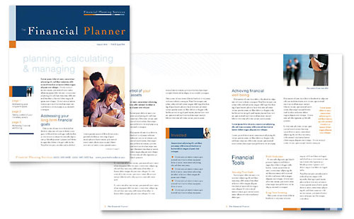 Financial Planning & Consulting Newsletter Template