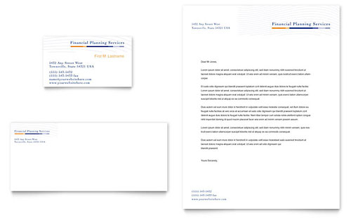 Financial Planning & Consulting Business Card & Letterhead Template