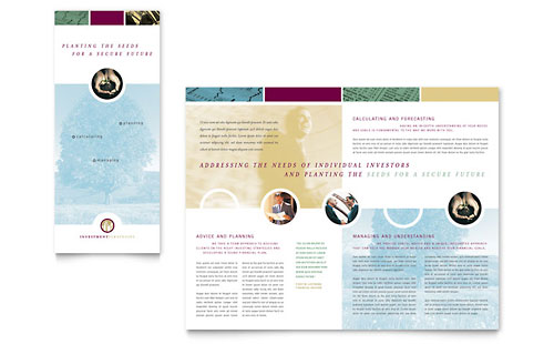 Financial Consulting Tri Fold Brochure Template