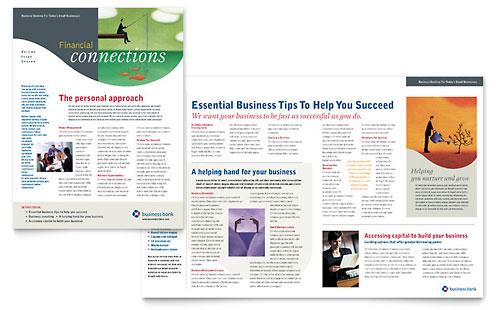 Business Bank Newsletter Template