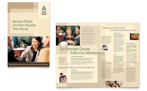 Credit Union & Bank - Brochure Template