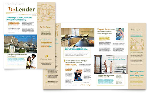 Mortgage Broker Newsletter Template