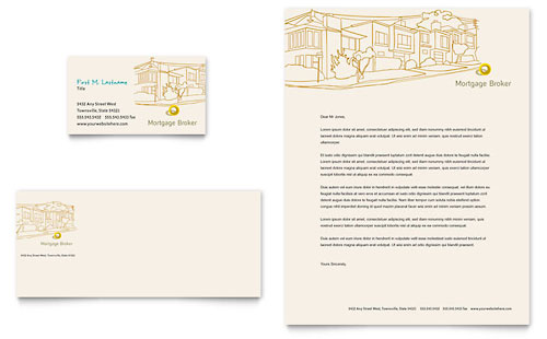 Financial Services Letterheads – Business Letter Heading Template