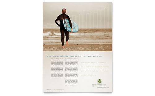 Retirement Investment Services Flyer Template