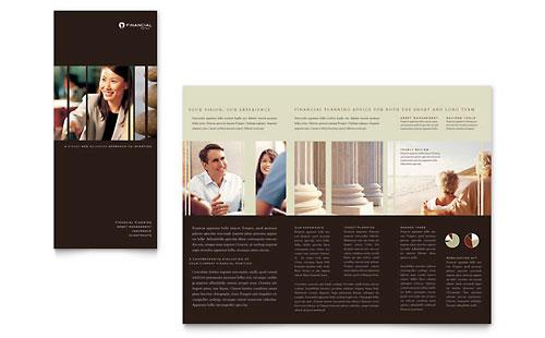 Financial Planner Brochure Template