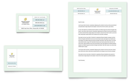 Mortgage Lenders Business Card & Letterhead Template