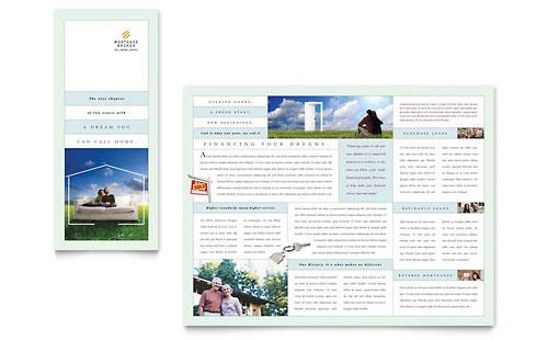 Mortgage Lenders Tri Fold Brochure Template