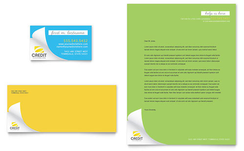 Consumer Credit Counseling - Business Card & Letterhead Template