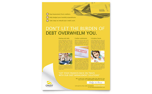 Consumer Credit Counseling Flyer Template
