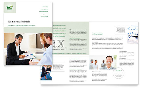 Accounting & Tax Services Brochure Template