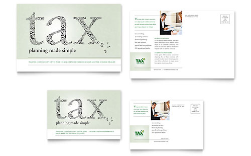 Accounting & Tax Services Postcard Template