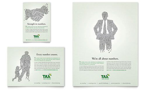 Accounting & Tax Services Flyer & Ad Template