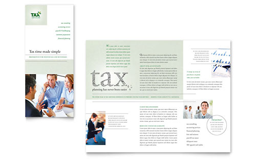 Accounting & Tax Services Tri Fold Brochure Template