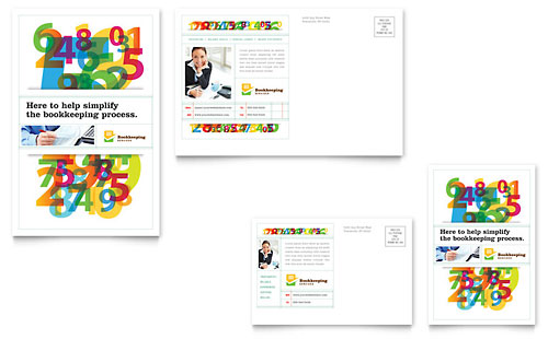 Bookkeeping Services Postcard Template