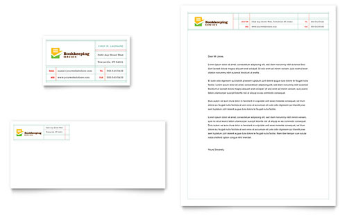Bookkeeping Services - Business Card & Letterhead Template