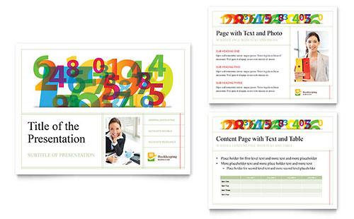 Bookkeeping Services PowerPoint Template