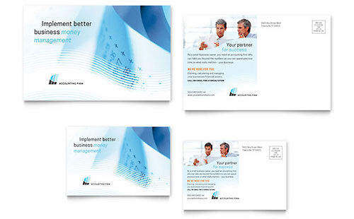 Accounting Firm Postcard Template