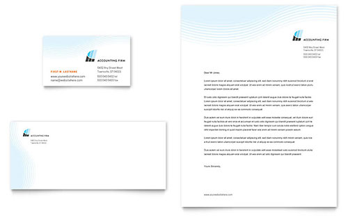 Accounting Firm Business Card & Letterhead Template