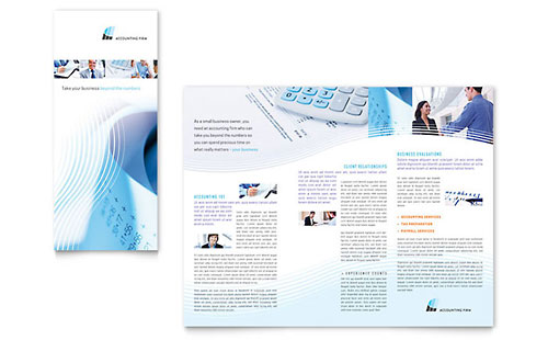 Accounting Firm Tri Fold Brochure Template