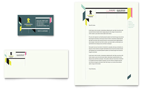 Personal Finance - Business Card & Letterhead Template
