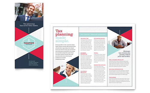 Tax Preparer - Brochure Template