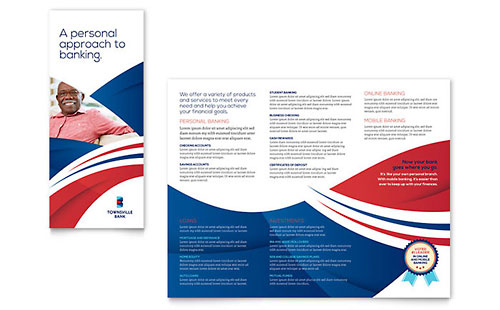 Bank Tri-Fold Brochure Template