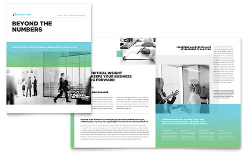 Auditing Firm Brochure Template - QuarkXPress
