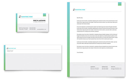 Auditing Firm Letterhead Template Design