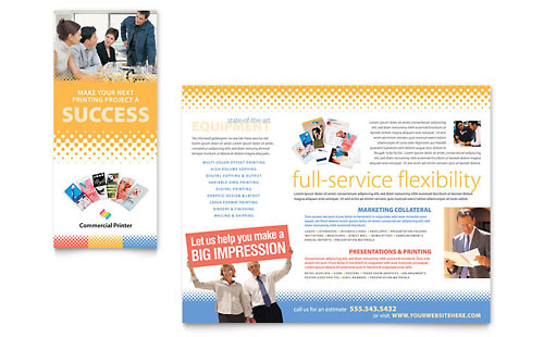 Commercial Printer Brochure Template