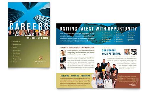 Employment Agency & Jobs Fair Brochure Template