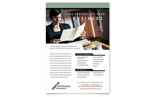 Bookkeeping & Accounting Services Flyer Template