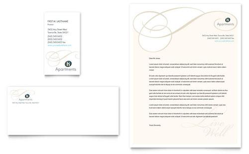 Apartment & Condominium Business Card & Letterhead Template