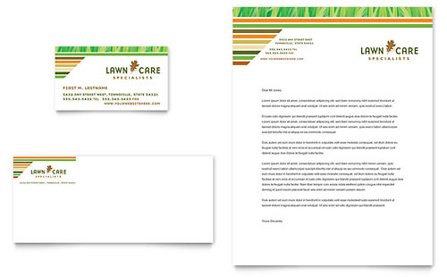 Landscaping Letterhead Templates Agriculture Amp Farming