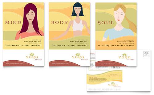Yoga Instructor & Studio Postcard Template
