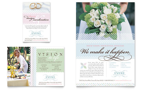 Wedding & Event Planning Flyer & Ad Template