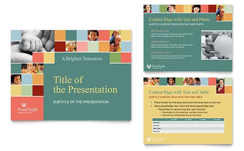 Non Profit Association for Children PowerPoint Presentation Template