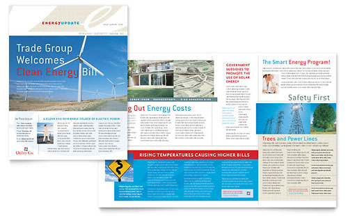 Utility & Energy Company Newsletter Template