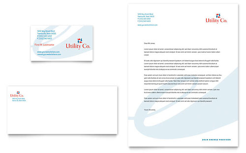 Energy Environment Letterheads – Business Letter Heading Template
