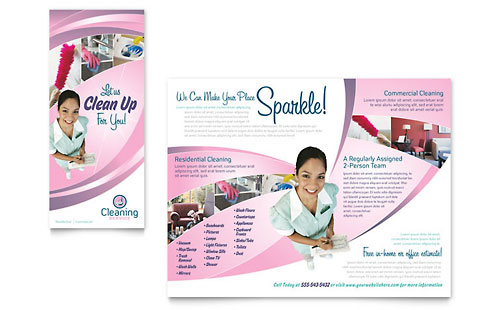 House Cleaning & Maid Services Brochure Template