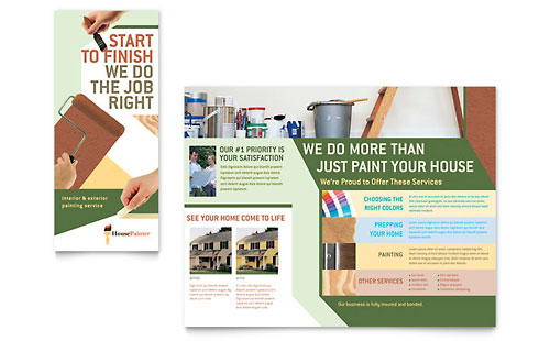 Painter & Painting Contractor Brochure Template