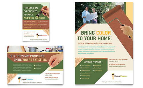 Painter & Painting Contractor Flyer & Ad Template