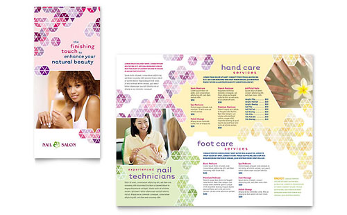 Nail Salon Brochure Template